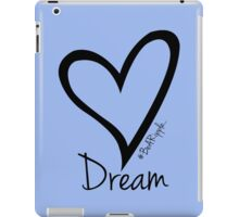 DREAM....#BeARipple Black Heart on Lavender iPad Case/Skin