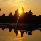 Sunrise over Angkor Wat, Cambodia by Bev Pascoe