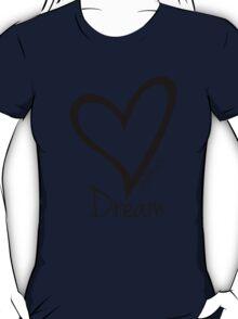 DREAM....#BeARipple Black Heart on Tiffany T-Shirt