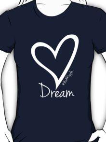 DREAM....#BeARipple White Heart on Lavender T-Shirt