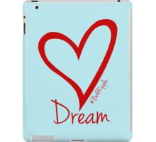 DREAM....#BeARipple Red Heart on Blue iPad Case/Skin