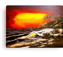 Wave Of The Sun - Acrylic Art By DCP Canvas Print