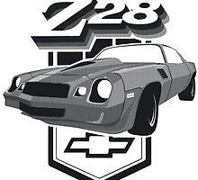 1979 Camaro Z28 Black & White by Jarkkokarkko
