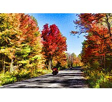 Colorful Bike Ride - Impressions Of Fall Photographic Print