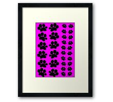Paw Prints on Pink Framed Print