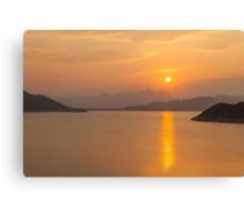 Sunset along the coast Canvas Print