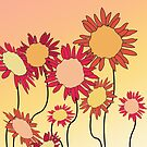 Red Hot Sunflowers by indidi