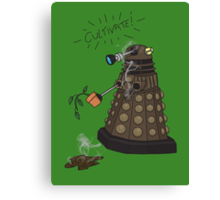 Dalek Retrement - Dr Who's Orders   CULTIVATE Canvas Print