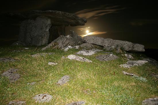 Night at Poulnabrone Dolmen 2 by John Quinn