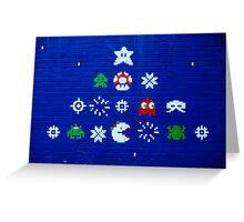 8-bit Christmas Tree Graffiti  Greeting Card