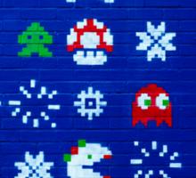 8-bit Christmas Tree Graffiti  Sticker