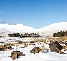 Upper Neuadd Reservoir in Winter by Heidi Stewart
