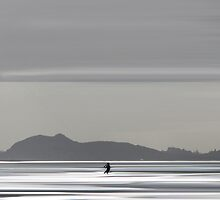Edinburgh Kitesurfer by bluefinart