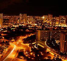 Nighttime in Honolulu, 2007 by Cory Miller