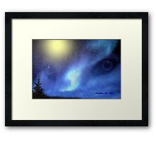 NORTHERN SPIRIT EYES Framed Print