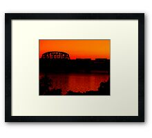 Sunset Train Ride Framed Print