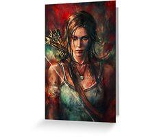 Lara Croft Tomb Raider Reborn Artwork Greeting Card