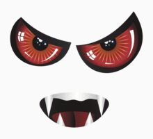 Evil face with red eyes Kids Clothes