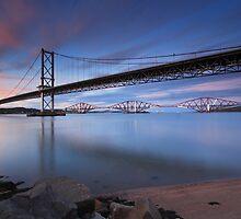 Both Bridges Sunset by duncansmith