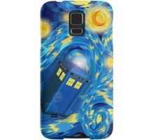 Space and time traveller phone box Starry the night Cartoons Samsung Galaxy Case/Skin