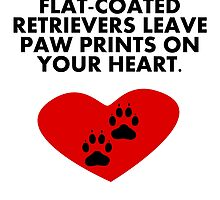 Flat-Coated Retrievers Leave Paw Prints On Your Heart by kwg2200