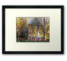 Stone Gazebo in the Venetian Gardens Framed Print