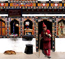 MONK - BHUTAN by Michael Sheridan