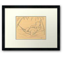 Ukelele Bear Framed Print