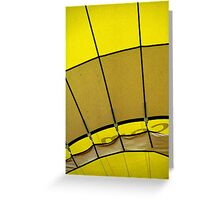 Hot air: Yellow Greeting Card