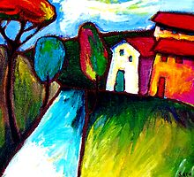 SUNDAYS  TOWN by ART PRINTS ONLINE         by artist SARA  CATENA