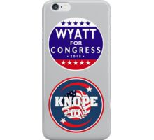 knope-wyatt campaign badges iPhone Case/Skin