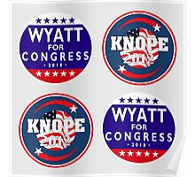 knope-wyatt campaign badges Poster