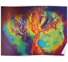 """""""Coral Forest"""" original artwork by Laura Tozer Poster"""