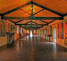 The long Gallery 2 - Montsalvat by Hans Kawitzki