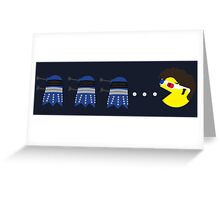 10th Doctor Pacman Greeting Card