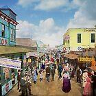 CITY - NY - The Bowery 1900 by Mike  Savad