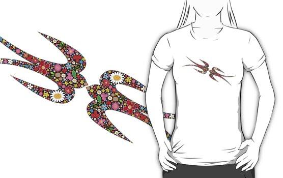 """""""Yen Zhi"""" Spring Flowers T-shirt by fatfatin"""
