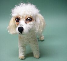 Needle Felted Wool Portrait of Chloe the Miniature Poodle by Amelia  Santiago