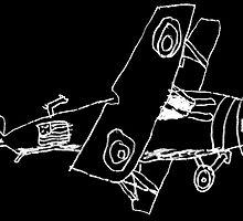 a biplane drawn by a kid by tinncity