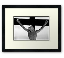 Jesus on the cross 3 Framed Print
