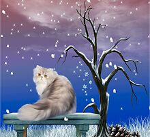 Sitting in Snowflakes by Elaine  Manley