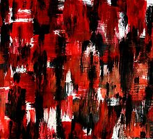 Colorful Abstract Painting Original Art Titled: Walking Dead by ZeeClark