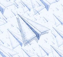 Paper Airplane 100 by YoPedro