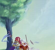 Warrior and Wizard Homecoming by capnflynn