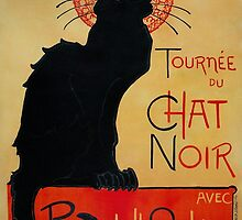 'Tournee du Chat Noir' by Theophile Steinlen (Reproduction) by Roz Abellera Art Gallery