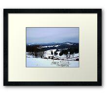 snow magic Framed Print