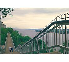 Evening Walk along the St. Lawrence River Photographic Print