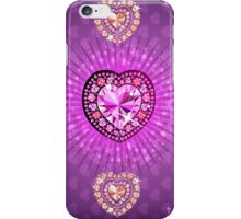PURPLE HEARTS AND DIAMONDS iPhone Case/Skin