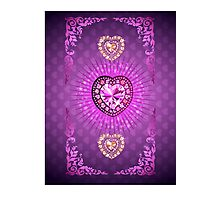 PURPLE HEARTS AND DIAMONDS Photographic Print