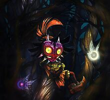 Skull Kid And The Fairies by luterocleric